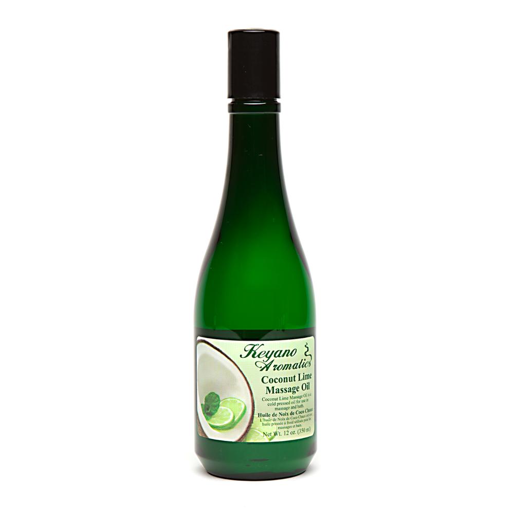 Coconut Lime Massage Oil 12 oz.